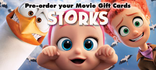 Pre-order your Movie Gift Cards today from Storks