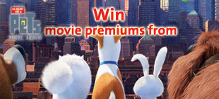 Win Movie Premiums from The Secret Life of Pets