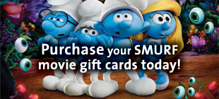 Purchase your Movie Gift Cards today from SMURF