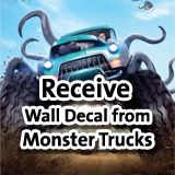 Receive MONSTER TRUCKS Wall Decal
