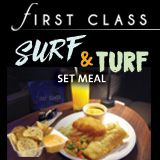 FIRST CLASS Surf and Turf Set Meal