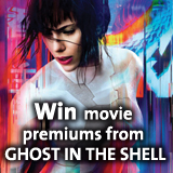 Win movie premiums from THE GHOST IN THE SHELL
