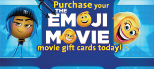 Pre Order your Movie Gift Cards today from The Emoji Movie