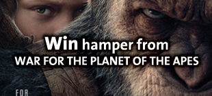 Win hamper from WAR FOR THE PLANET OF THE APES