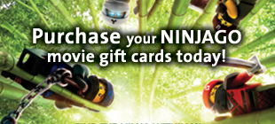 Pre-Order your Movie Gift Cards today from The Lego Ninjago Movie
