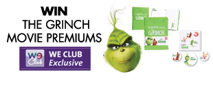Win movie premiums from THE GRINCH
