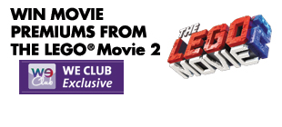 Win movie premiums from The Lego Movie 2