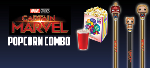 Marvel Studio's Captain Marvel Popcorn Combo