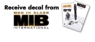 Receive decal from MEN IN BLACK: INTERNATIONAL
